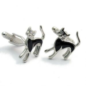 Black Cat Cufflinks by Onyx-Art Gift Boxed CK592